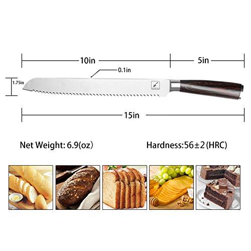 iMarku 10-Inch Pro Serrated Bread Cake Slicer Knife - Premium German Stainless Steel Bread Slicer by iMarku (Image #3)