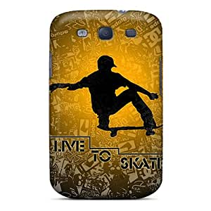 Hot Live To Skate First Grade Tpu Phone Case For Galaxy S3 Case Cover