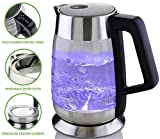 Ovente Glass Electric Kettle with Temperature Control and Keep Warm on EACH Temperature
