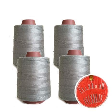4 Conos de Hilos Overlock 100% Poliéster para Coser a Máquina y Remallar – 40S