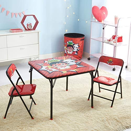 Idea Nuova WK980761 Ryan's World Kids 3 Piece Folding Table And Chair Set, Ages 3+
