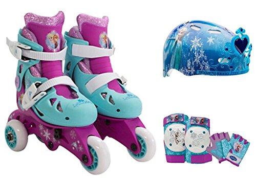 Disney Frozen 9 Piece Girls Toddler Skate Set - Inline Trainer Skates e11b8e6526860