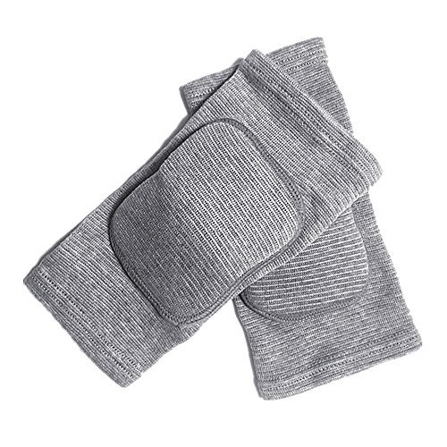 MINILUJIA Children's Kids Knee Brace Pad Tight Non-Falling Sponge Sleeves Breathable Flexible Elastic Support Protector Cover 2PCS/Pair (xs, Grey)
