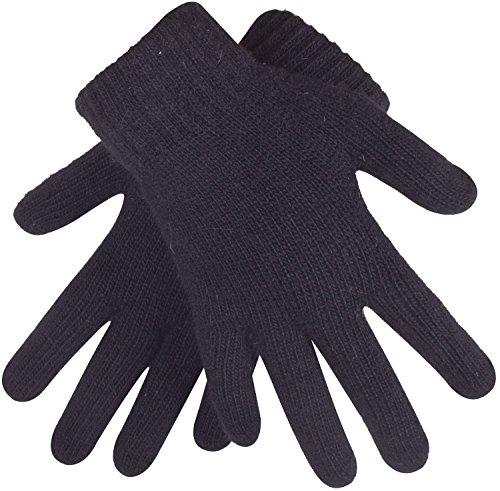 Women Knit Gloves - Winter Knit Gloves for Women Warm Cashmere Ladies Gloves Black Magic Gloves,Black,One Size