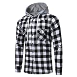 Mens Shirt,Haoricu 2018 Retro Classic Men Gifts Fashion Long Sleeve Hoodies Shirt Casual School Boys Tops Blouse (L, Black)