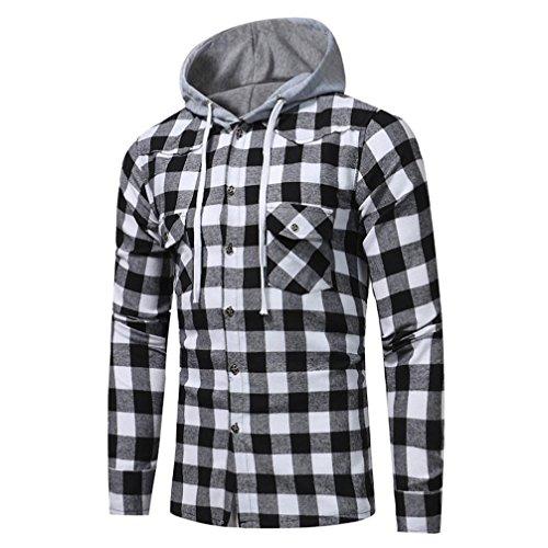 Mens Shirt,Haoricu 2018 Retro Classic Men Gifts Fashion Long Sleeve Hoodies Shirt...