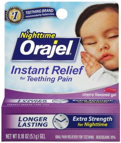Orajel Teething Nightime formule, 0,18 once