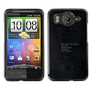 // PHONE CASE GIFT // Duro Estuche protector PC Cáscara Plástico Carcasa Funda Hard Protective Case for HTC G10 / Consejos motivacionales /