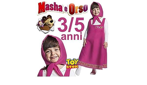 Bañador Masha 3/5 años vestido Carnaval vestido Bimba: Amazon.es ...