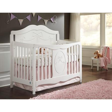 Delta Bennington Bell Curved Lifetime Crib White Ambiance