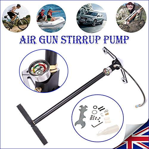 3 Stage Charger PCP Hand Stirrup Pump Gun Rifle Airrifle Gas Filter Gauge Cheap