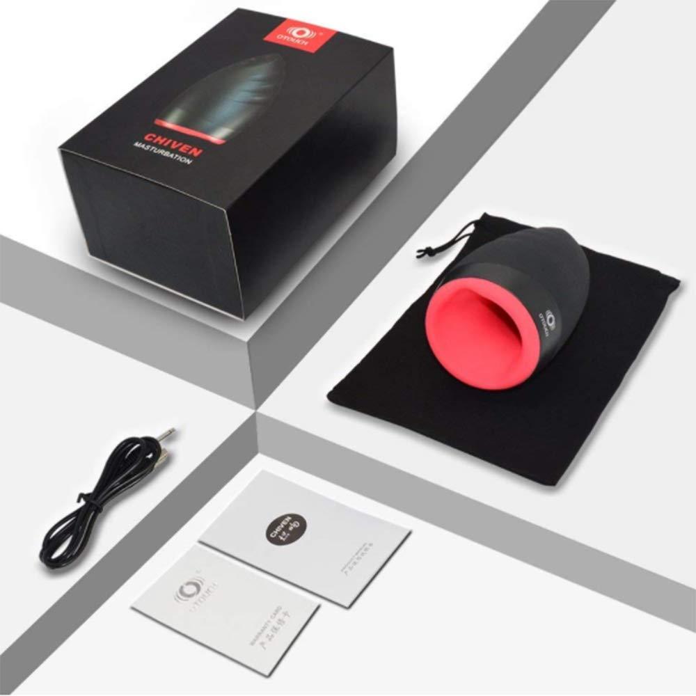 Unbekannt Vibrierendes Elektrisches Spielzeug Wiederaufladbare Wasserdichte Silikon-Massage-Tasse Mit Heizfunktion Für
