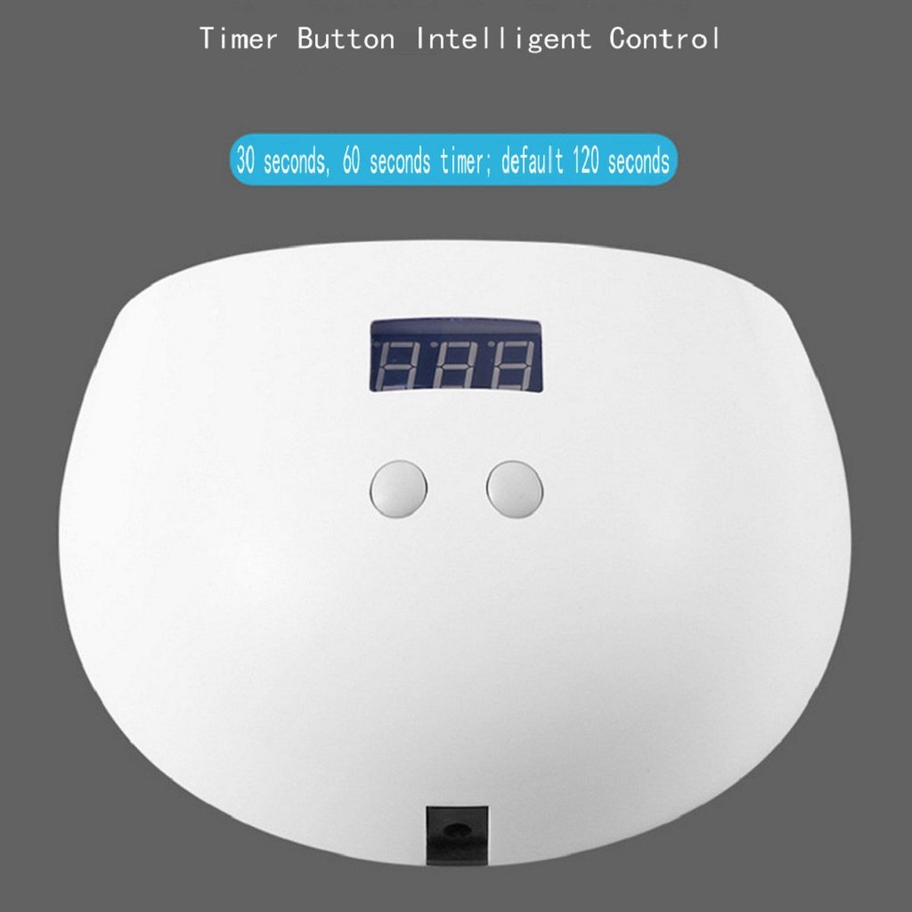 Ecosin Nail Printer Professional LED UV Nail Lamp Led Nail Drying Curing Nail Dryer LED Gels, UV Gels Gem Glue USB 24W LED Nail Art Machine