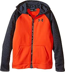Under Armour Boys' Storm Armour Fleece Full Zip Hoodie, Graphite/Black, Youth X-Small