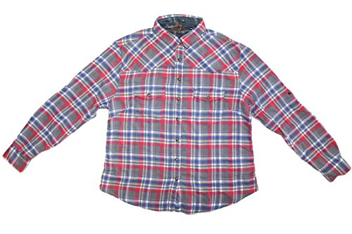 Jachs Girlfriend Ladies' Flannel Shirt (S, BLUE)