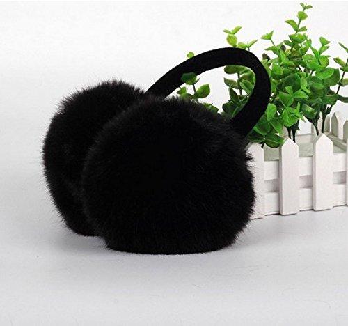 Arpoador 1X Faux Fur Winter Ear Warmer Earmuff Earwarmer Earlap Black