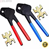 COLIBROX--1/2'' & 3/4'' Crimper Pex Crimp 2 Plumbing Tools Copper Ring With Go No-go Gauge. Comes with Go/No Go Gauge Ideals for Making Copper Crimp Ring and Supplies,