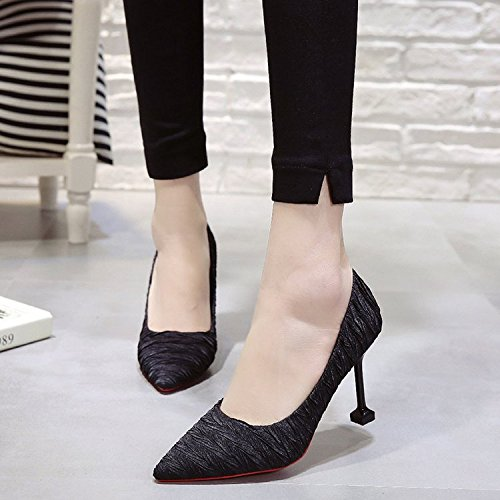 con fina Qiqi de peque Xue red zapatos tac Punta os de waA4UxqnP