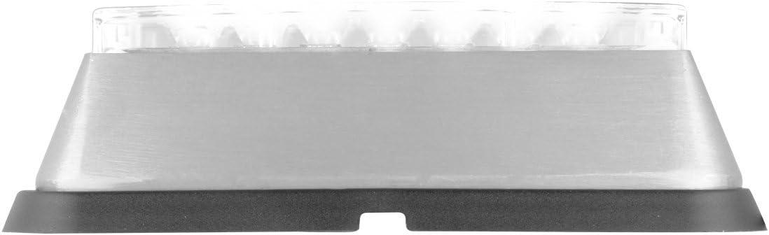 Grand General 81834 White//Clear Medium Rectangular 8 LED Strobe Light