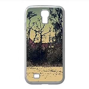 Barn Watercolor style Cover Samsung Galaxy S4 I9500 Case (Landscape Watercolor style Cover Samsung Galaxy S4 I9500...