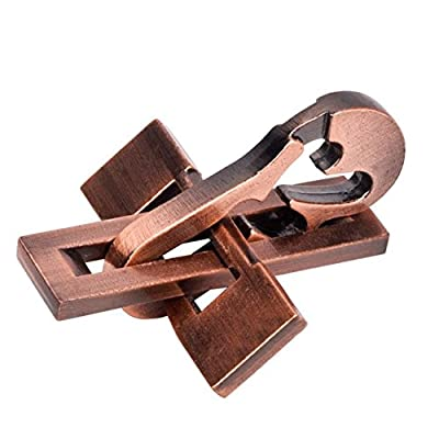 SHUYUE Planer and Dulcimer Classic Unlocking Toy Cast Metal Brain Teaser Puzzle Toy Stress Relief Toy