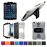 Bolkin® Hybrid Armor Series Shockproof Case Cover for Apple Ipad Air (White), Best Gadgets