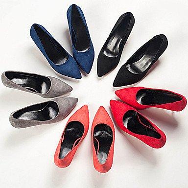 LvYuan Mujer Sandalias Confort PU Verano Confort Tacón Stiletto Negro Gris Fucsia Rojo Azul 7'5 - 9'5 cms Black