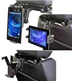 Navitech Tablet pc in Car Headrest/Back Seat Black Expandable Firm Grip Mount Cradle Compatible with The Amazon Kindle Tablet