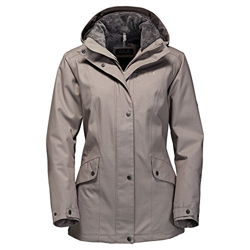 Jack Wolfskin Women's Park Avenue Jacket, Moon Rock, X-Large - Park Avenue Coat