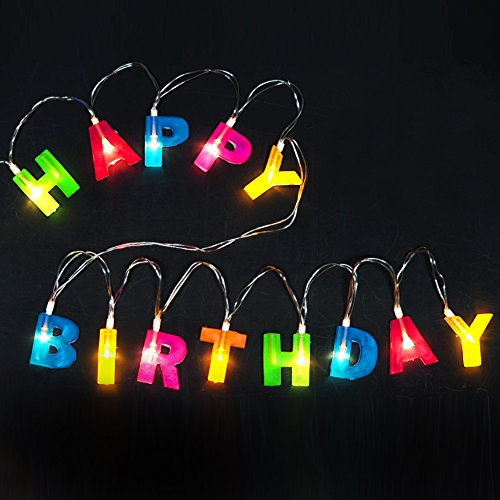 BRIGHT Multicolor Letter Shaped BIRTHDAY