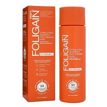 Foligain - Champú de crecimiento del pelo para hombre | Trioxidil 2% | Combate la