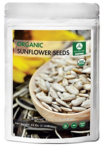 Organic Sunflower Seeds (2lbs) by Naturevibe Botanicals, Gluten-Free & Non-GMO (32 ounces)