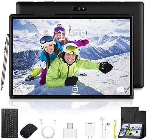 10.1 inch Tablet with Keyboard Case Quad-Core Processor, 3 GB RAM, 32 GB Storage, Android 9.0 Go 1280×800 IPS HD Display, 8MP Rear Camera, Bluetooth, Wi-Fi, USB, GPS – Black