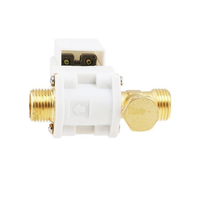 SODIAL(R) Dc12v valvula solenoide electrico inch 5.4 agua aire: Amazon.es: Electrónica