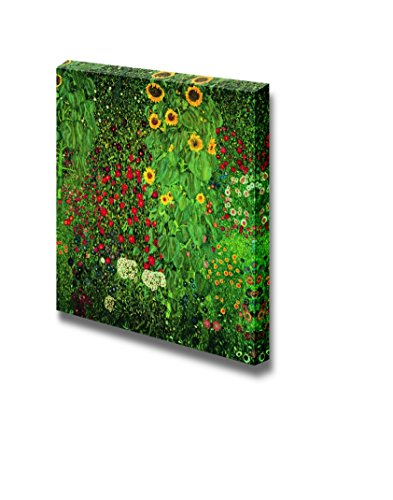 Farm Garden with Sunflowers by Gustav Klimt Print Famous Oil Painting Reproduction