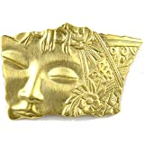 Vintage 1920's Art Deco Style Face Fragment Pin Signed JJ USA!