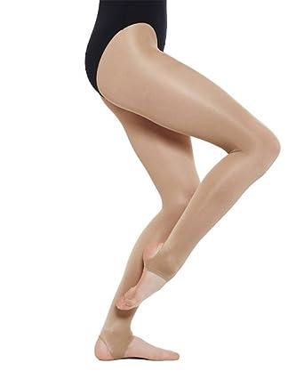 8c2ca02bce2c2 Mytoptrendz® Women's Ultra Shimmery Open Toe and Heel Stirrup Dance Tights  Light Toast (Ladies