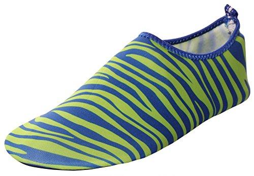 CAIHEE Frauen und Männer Leichtgewichtler Quick Dry Slip On Water Schuhe Aqua Barfuß Haut Schuhe Grün3
