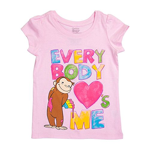 - Girls' Everybody Loves Me Pink Girls T-Shirt - 3T