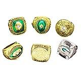 ZNKVJ Retrol 1996 Year Men's Green Bay Packers Championship Set Rings,Size 14