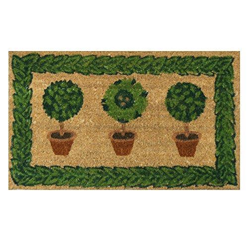 Rubber-Cal Grandmas Plants Decorative Home Colorful Coco Doormat, 18 x 30