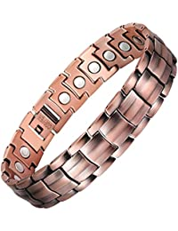 Mens 99.95% Pure Copper Magnetic Therapy Bracelet with High Powered Magnets for Arthritis Pain Relief,3500 Gauss,8.5-9.8 Inches