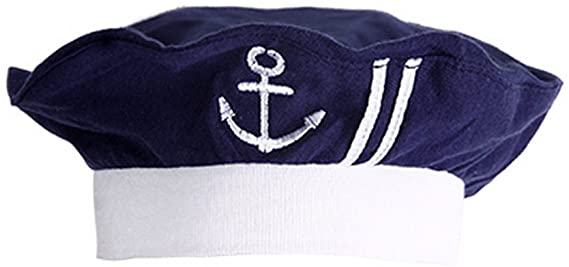 Baby Boys White Cotton Sail Boat Lined Summer Sun Hat Nautical 0-24 Month