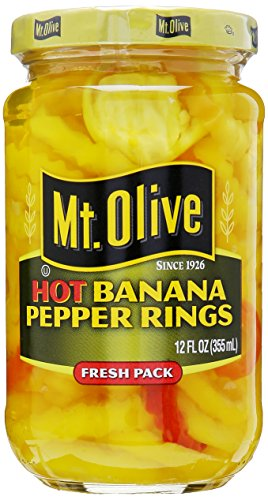 Mt Olive Hot Banana Pepper Rings, 12 - Pickled Bananas