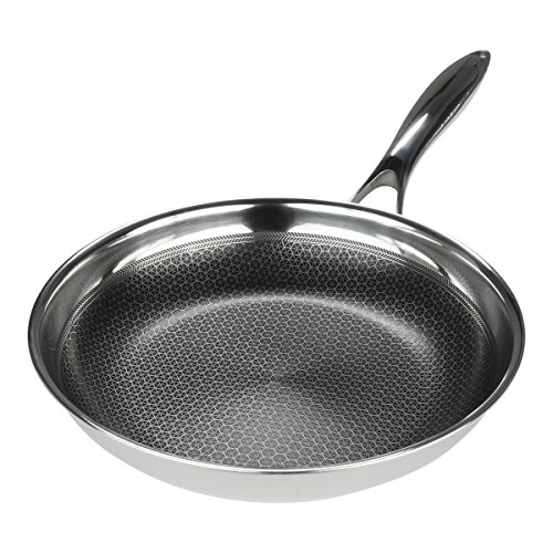 Frieling USA Black Cube Hybrid Stainless/Nonstick Cookware Wok with Helper Handle, 12 1/2-Inch by Frieling