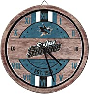 NHL San Jose Sharks Team Logo Wood Barrel Wall ClockTeam Logo Wood Barrel Wall Clock, Team Color, One Size