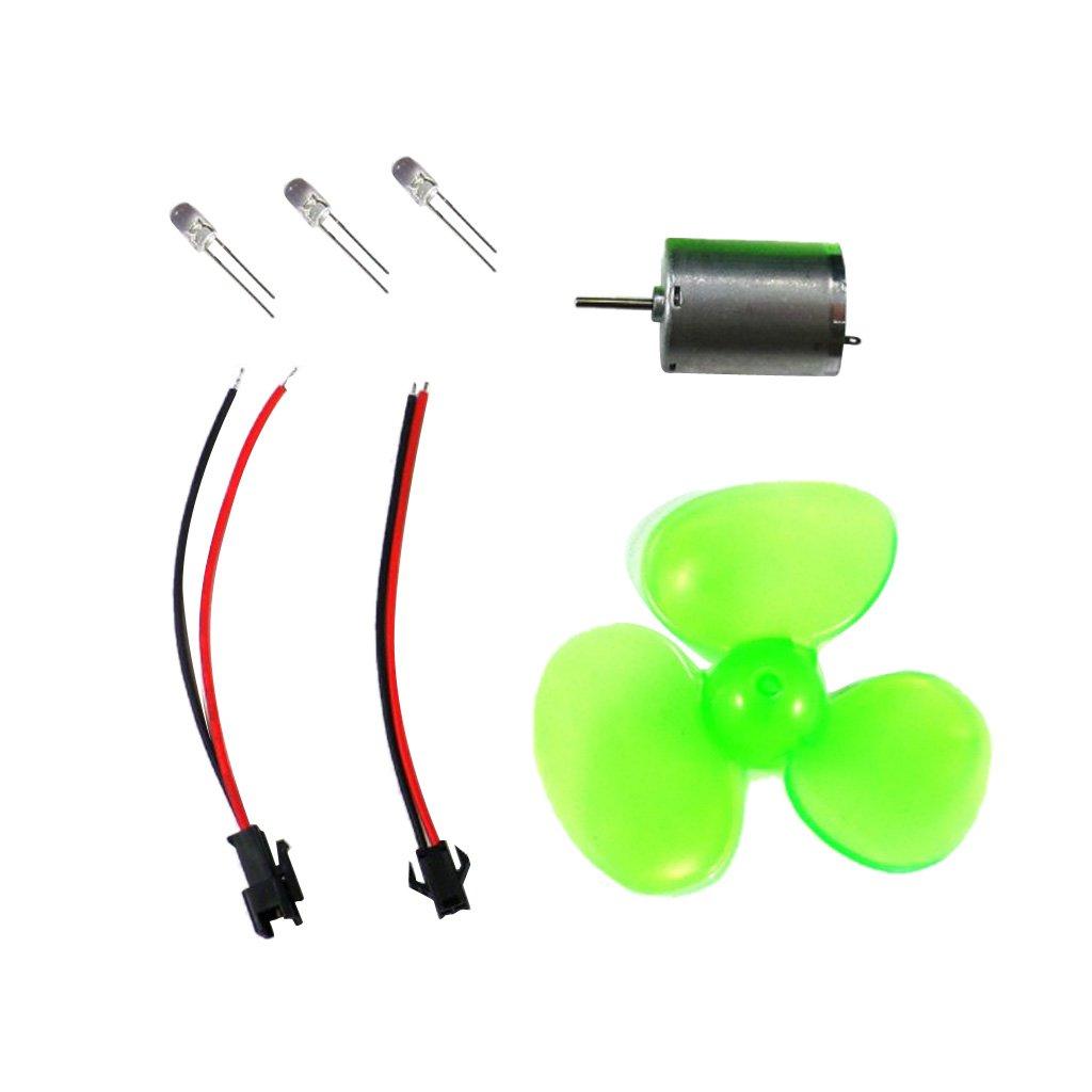 Baoblaze Mini Kit de Luz LED Generador de Viento de Plá stico DIY Herramientas de Ensamblaje