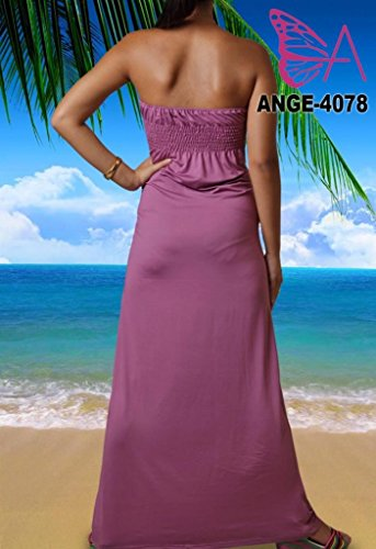 Angela - Vestido - Sin tirantes - para mujer Mauve