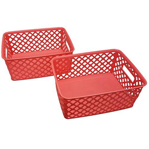Starplast Small Deco Storage Baskets - Coral, 2 Pack