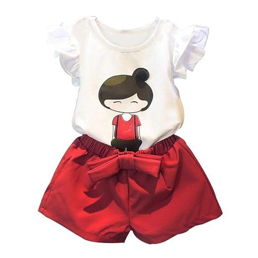 4 opinioni per Koly_Cute Baby ragazza dei capretti manica corta Top T-shirt + shorts Pants